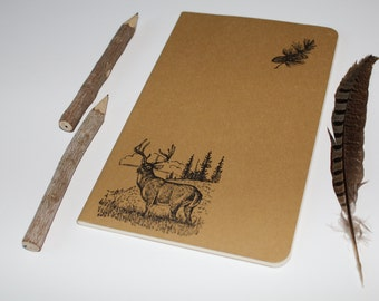 Deer Lined Journal Camping Hunting Outdoors