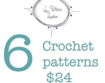 Crochet patterns, choose any 6 crochet and/or knitting patterns for only 24 dollars, crochet hat patterns, animal hat patterns