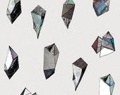 minimalistic mineral diamond poster          illustration design collage