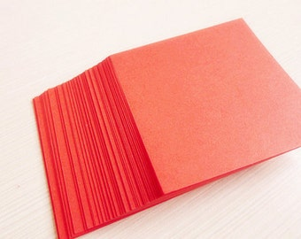 Romantic Red Origami SquarePaper Pack for Origami Paper Crane Folding - 120 Sheets(7.5cm x 7.5cm )