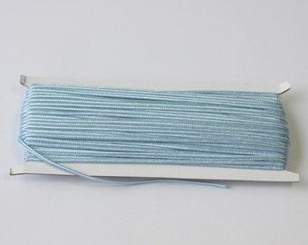 5.5 yards baby blue Soutache Braid, Passementerie Braid, embroidery, Soutache cord, Passementerie cord Trim, gimp cord, russian braid