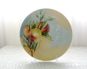 Handpainted plate with peaches J & C