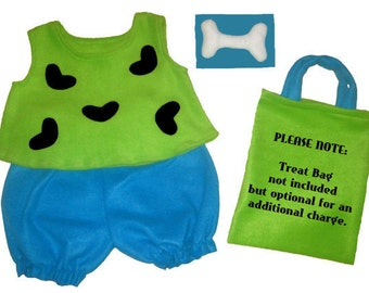 Pebbles Flintstones Halloween Costume Lime & Turquoise Set