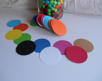 40 Circles (2 inches) Cardstock Die Cuts for Scrapbooking, Cupcake Toppers, Tags, Banners, Centerpieces, Party Favors