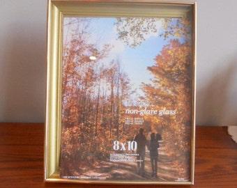 Vintage Gold Picture Frame Easel Back Frame 8 x 10 Hanging Picture Frame