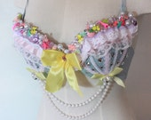 These are a few of my favorite things custom bra rave clothing halloween costume dance wear 34B/32C