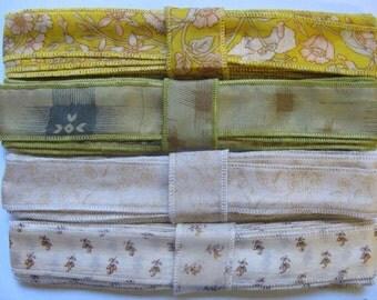 4 Colors of Mixed Silk Ribbon, A48