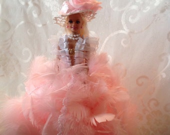 Feather Dolls/Glamour Dolls/Barbie Dolls/Vintage Dolls/Art Dolls/Vintage Lace Dolls