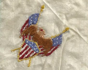 Silk vintage handkerchief