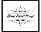 Printable Art Home Sweet Home 8x10