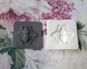 Clay Stamp Bumble Bee Insect Pottery Press Mold Relief Mold or Sprig Mold Bisque Clay Stamp for Ceramic Decoration and Texture