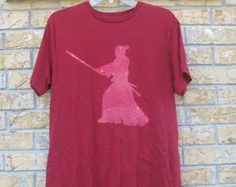 Men's Japanese Samurai Inspired T shirt size Medium red color