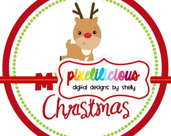 DIY Printable My First Christmas Iron On Transfer - Digital Image for Onesies or Bibs - INSTANT DOWNLOAD