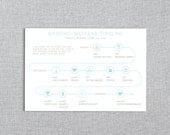 Sun N Surf - Wedding Weekend or Day of the Wedding Timeline - Customizable Printable PDF - Beach Wedding
