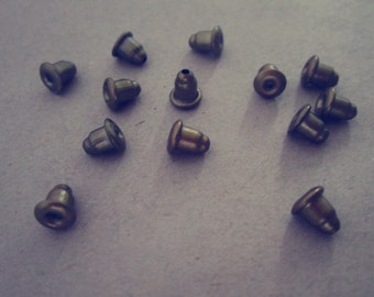 100pcs   Antique Bronze bullet earring plug 5mmx6mm