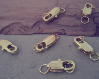 20pcs Gold color Lobster Clasps 5mmx14mm