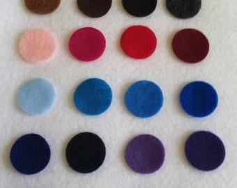 100 Pre Cut Felt Circles - 3 inches - you choose colors