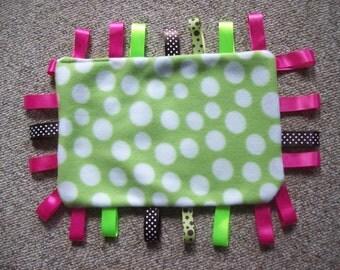 Sensory,Dribble,Pad,Fleece,Ribbons,Babies,Boys,Girls,Infants,Gift,Reversable,Shower