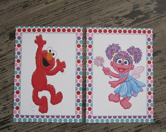 Abby and Elmo Signs