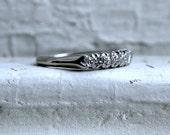Vintage Platinum Diamond Wedding Band - 0.35ct.