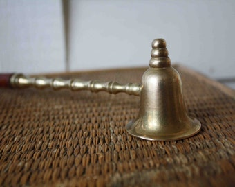 Faux bamboo brass candle snuffer