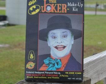 Vintage Joker Makeup Kit, 1989, The Joker, Jack Nicholson, Unopened box, Batman, Robin, Superheroes, DC Comics, Holloween, winterparkcollect
