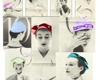 Skull Cap Ten Way Hat Vintage Sewing Pattern - Sewing pattern PDF 0525