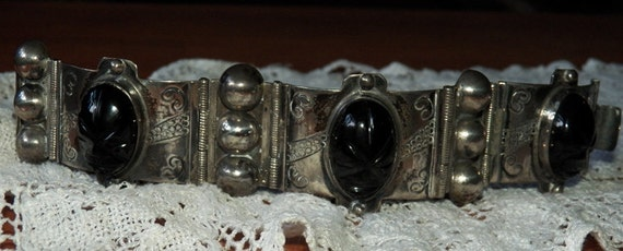 Big and Bold Mexican Silver Bracelet