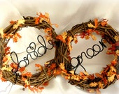 Fall Wedding Vine Chair Backs, Bride & Groom