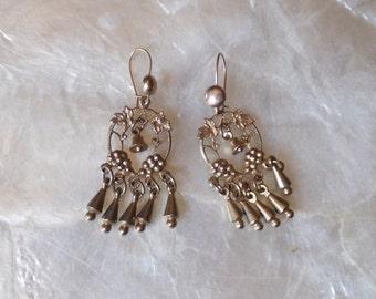 Gold Earrings Flamenco Dangly