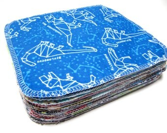 Cloth Wipes, Cloth Diaper Wipes, 20 Boys Mixed Prints, Eco-Friendly Wipes, Reusable Cloth Wipes, Flannel Cloth Wipes, Family Cloth