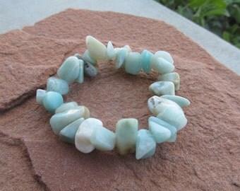 Amazonite Stretchy String Bracelet #B3