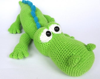 Crocodile Alfred- Amigurumi Crochet Pattern / PDF e-Book / Stuffed Animal Tutorial