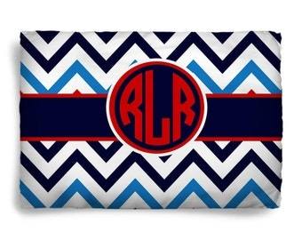Personalized Chevron Pillowsham - Name or Intials