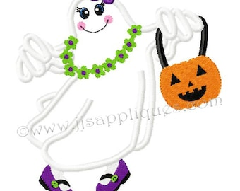 Instant Download - Halloween Embroidery Designs Ghost Design Embroidery Applique - Ghost Girl2  4x4, 5x7, 6x10 hoops