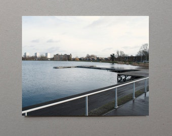 Lake, Pier, Nature, London, Masculine Decor Art, Photographer Gift, Color Photography, Blue, Calm, Serene, Wall Art Print, For Her, For Him