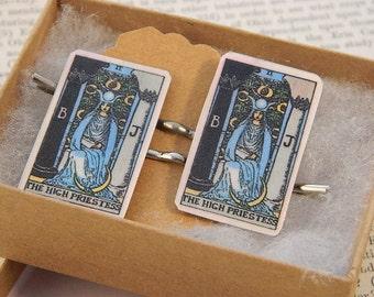 Tarot jewelry Bobby Pins Hair Accessory The High Priestess Supernatural