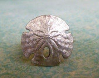 Sand Dollar Ring, Sterling Silver