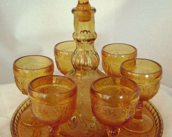 Tiara Indiana Glassware Wine Decanter Set