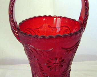 Tiara Indiana Glassware Ruby Red Queen's Vase