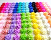 80 Pcs  Resin flower cabochons