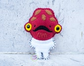 Felt Admiral Ackbar - Pocket Plush toy