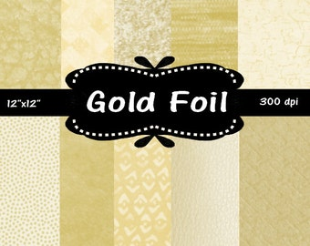 "50% off Sale Gold Foil Digital Paper Pack  12 x 12 "" scrapbooking, background, texture"