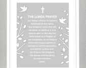THE LORDS PRAYER- 8x10 - You choose the color