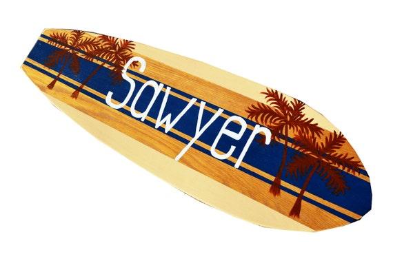 Planche de surf wall art personnalis surf decor signes de - Decoration planche de surf ...