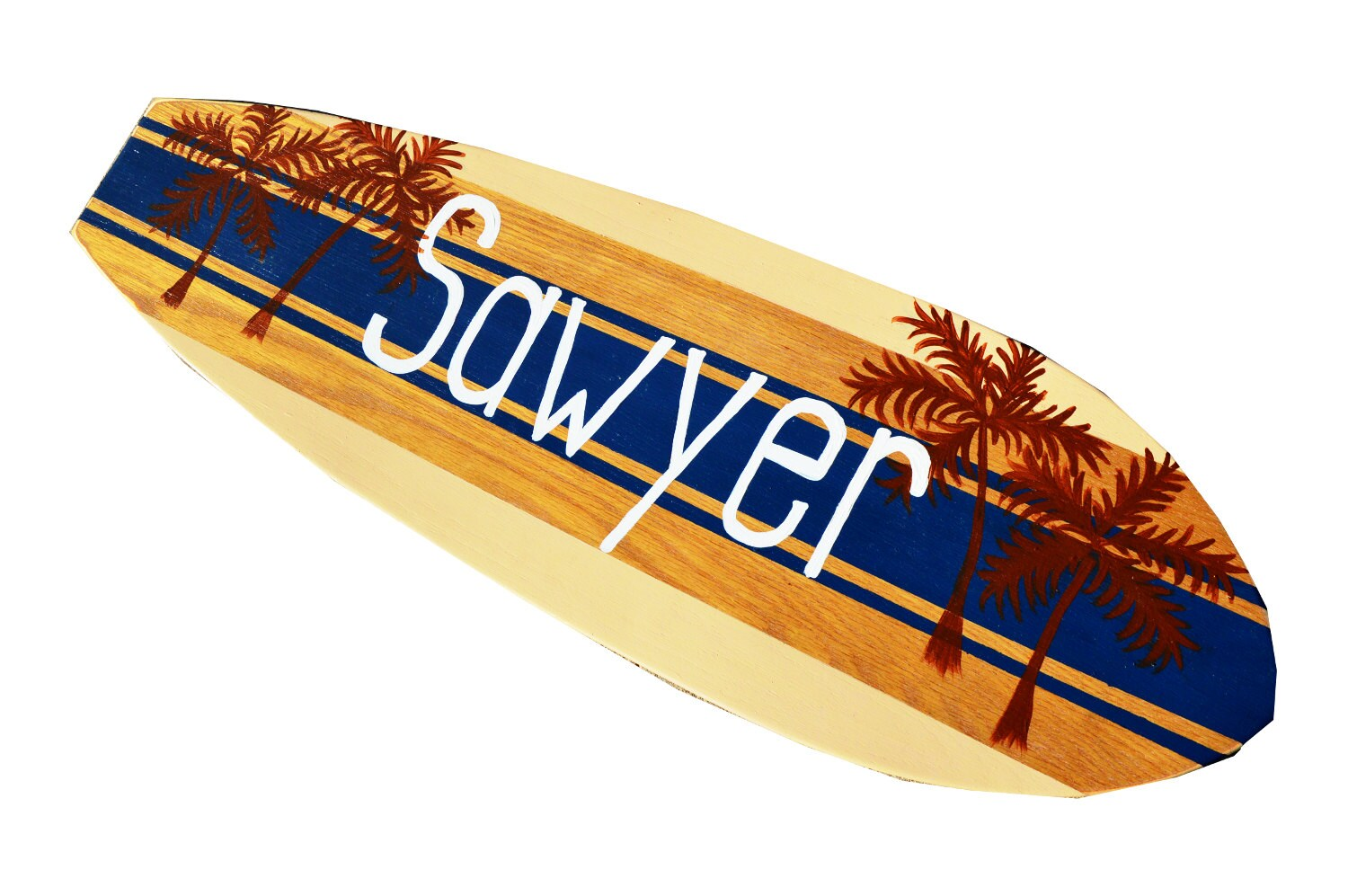 Surfboard wall art personalized surf decor custom beach for Planche de surf decorative