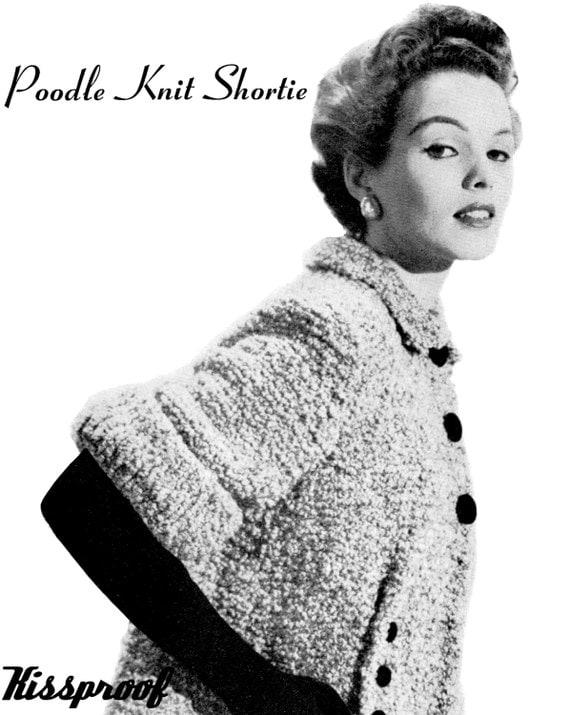 Vintage 50s Knit MAD MEN Swing Jacket PDF