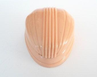 Vintage Celluloid Peach Coral Ring Box Display Art Deco Plastic Ring Box