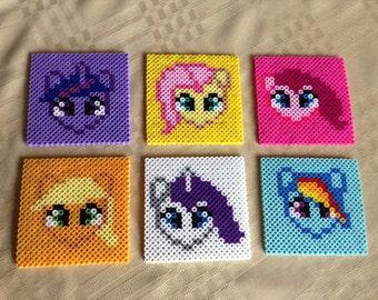 Perler Bead My Little Pony Coaster Set