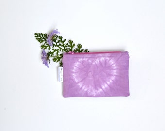 Radiant Orchid Coin Purse, Valentines Day, Zipper Pouch, Heart, Shibori, Radiant Orchid, Pink